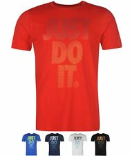 OFFERTA Nike Futura Just Do It Quote T Shirt Mens Red
