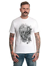 The Walking Dead Walker face herren T-Shirt weiss