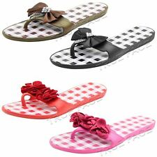 Ladies Toe Post Flip Flops Sandals Beach Pool Women Comfy Summer Sliders UK 4-8