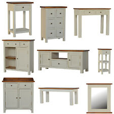 2 TONED 100% Mango wood  Kitchen Unit TV Stand Bench Console Bedside Cabinet