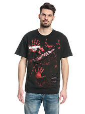 The Walking Dead Michonne ALL Infectados Ripeado CAMISETA NEGRA