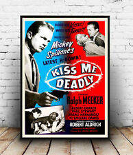 Kiss me deadly , Vintage  movie advert Reproduction poster, Wall art.