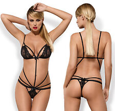 OBSESSIVE Wonderia Luxury Super Soft Multi Strap Lace Body / Teddy