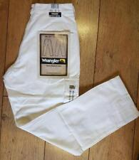 New Women's Authentic Wrangler Cargo Combat Valley Jeans Trail Fit White