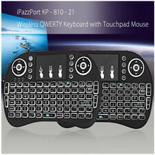 iPazzPort I8 Tastiera QWERTY Retroilluminata Wireless 2.4GHz con Mouse Touchpad