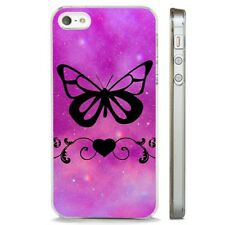 Butterfly Sky Stars Cosmic CLEAR PHONE CASE COVER fits iPHONE 5 6 7 8 X