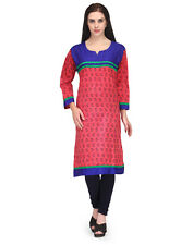 Stylish BPT Kurtis - Trendy Cotton Style Embroidered Multi Color Long Kurtis  XL
