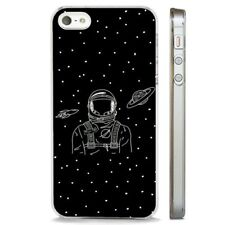 Space Stars Astronaut Rocketship CLEAR PHONE CASE COVER fits iPHONE 5 6 7 8 X
