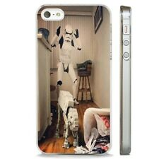 Stars Wars Storm Trooper Comedy CLEAR PHONE CASE COVER fits iPHONE 5 6 7 8 X