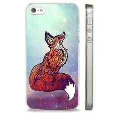 Red Fox Stars Magical CLEAR PHONE CASE COVER fits iPHONE 5 6 7 8 X