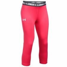 Under Armour Girls' UA HeatGear Armour Solid Capri - Gala