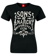 Sons of Anarchy SOA Motocicleta Club girlshirt BLACK