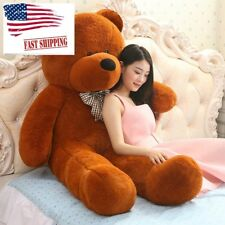 Giant Teddy Bear Plush Large Stuffed Animals Brown Valentines Day Gift For  Her