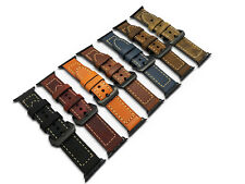 Replacement Thick Leather Watch Strap Band for Apple Watch 38/42MM Series 1 2 3
