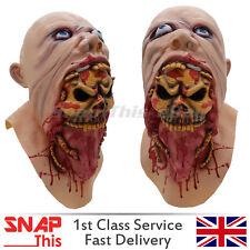 MASCHERA DI ZOMBIE COSPLAY LATEX VISO COMPLETO horror adulto Halloween Party