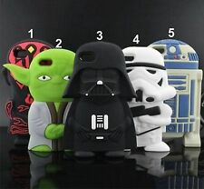 CUBIERTA DE LA CAJA CASE silicone star wars historietas 3D IPHONE 4 5 6 S 6 Plus