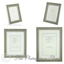 Ornate Silver Shabby Chic Vintage Picture Frame White/Silver mount 6x4 - 12x8