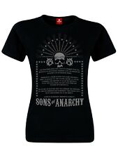SONS OF ANARCHY Anarchist Rules Camiseta para señoras Negro