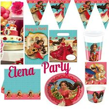 Disney Elena Of Avalor Birthday Party Decorations Table cup plates wall banner