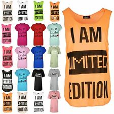Womens I'm A Limited Edition Heart top Ladies Turn Up Cap Baggy Sleeve T Shirt