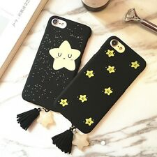 Fashion Cute Stars Tassel Pendant Case For iphone 7 6 6S Plus Cover Smile Twinkl