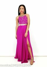 virgos lounge Jayne STRASS MATRIMONIO COCKTAIL MAXI Vestito da sera UK 8 12 14