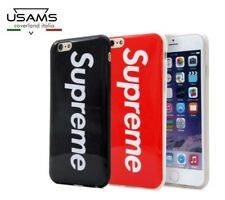 "COVER Custodia RIGIDA Sottile Slim MORBIDA con logo ""SUPREME"" Per iPHONE 6.6S;7"