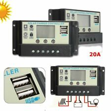 20A MPPT Solar Panel Battery Regulator Charge Controller 12 24V Auto PWM USB ub