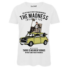 T-Shirt Divertente Donna Maglietta Cotone Con Stampa Ironica The Madness Tuned