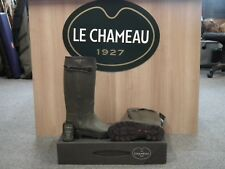 MENS LE CHAMEAU WELLIES CHASSEUR HERITAGE LEATHER LINED WELLINGTON BOOTS