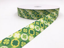 2-100 Yard 1'' 25MM Flowers Printed Grosgrain Ribbon Hair Bow Sewing Ribbon DIY