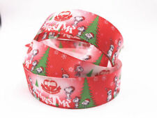 DIY 5-100 Yard 1''25MM dog Printed Grosgrain Ribbon Hair Bow Sewing Ribbon