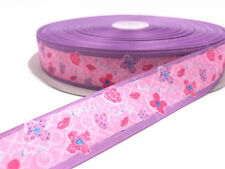 DIY 1-100 Yard 1''25MM mouth Printed Grosgrain Ribbon Hair Bow Sewing Ribbon