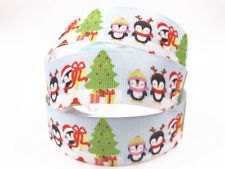 DIY 5-100 Yard 1''25MM penguin Printed Grosgrain Ribbon Hair Bow Sewing Ribbon