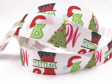 DIY 5-100 Yard 1'' 25MM Gift Printed Grosgrain Ribbon Hair Bow Sewing Ribbon