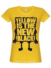 Sponge Bob Giallo Is The New Black Girly T-SHIRT Giallo