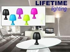 Lampada da tavolo LIFETIME lighting paralume in plastica colorata luce decorativ