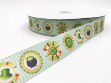 DIY 2-100 Yard 1'' 25MM Printed Grosgrain Ribbon Hair Bow Sewing Gift Ribbon