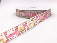 DIY 2-100 Yard 1'' 25MM Printed Grosgrain animal Ribbon Hair Bow Sewing Ribbon