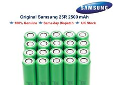 Genuine SAMSUNG 25R 18650 INR 20A 2500mAh Flat Top Battery For Vape Mods UK