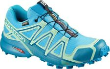 SALOMON SPEEDCROSS 4 GTX W SCARPA DONNA TRAIL RUNNING GIALLO BLUE ACQUARIUS