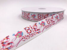 DIY 2-100 Yard 1'' 25MM bird Printed Grosgrain Ribbon Hair Bow Sewing Ribbon