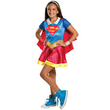 Childs DC Comics Supergirl Girls Superhero Kids Fancy Dress Costume 620742