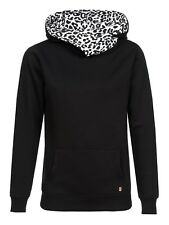 PUSSY Deluxe CROSS OVER BLANCO LEOPARDO CHICA Sudadera Con Capucha Mujer Jersey