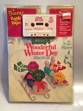 Barney's Wonderful Winter Day Cassette & Book Factory Sealed New Old Stock