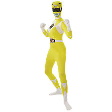 YELLOW Adult Mighty Morphin Power Rangers 2nd Skin Fancy Dress Costume 810951
