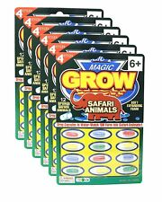 15 magic Grow Capsules Pack Of 12 Water Growing Safari Animals Party Favors