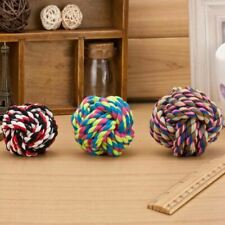 New Design Pets Rope Ball Toys Bite Ball Colorful Squeak Toys Dog Wool Ball Toys