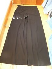 LAUREN RALPH LAUREN BLACK LONG LUXURIOUS WIDE DRAPEY CREPE TROUSERS UK12 us8