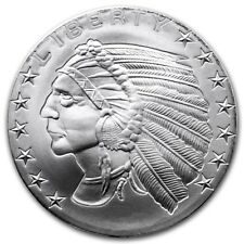 1oz Silver Incuse Indian Head Round